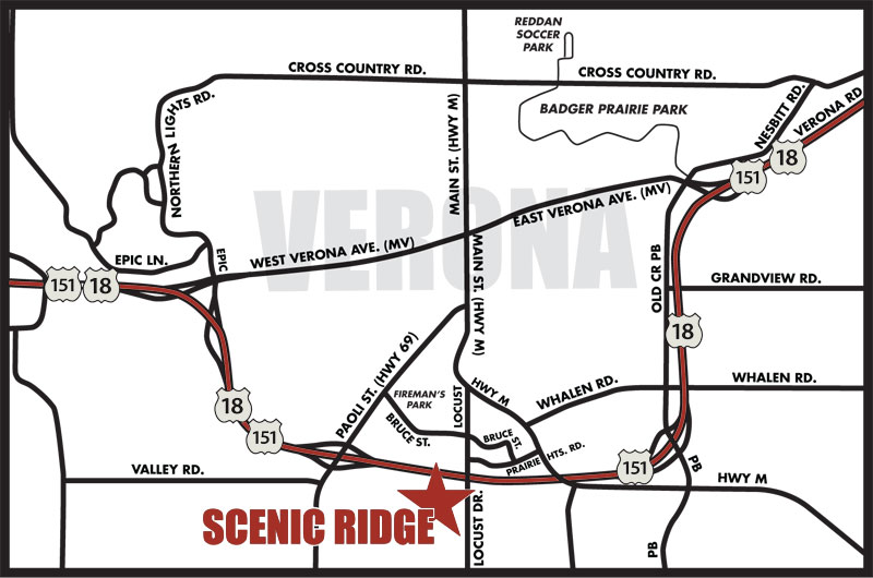 Map to Scenic Ridge
